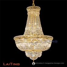 LAITING Dia 60cm or français lustre haut cristal clair pour restaurants lustre classique salon LT-71023