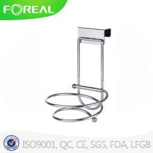 Folding Chromed Metal Wire Hair Dryer Holder