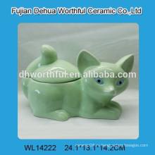 Дизайнерская керамическая емкость для хранения лисицы