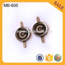 MB600 Custom металлический кошелек с логотипом / биркой для сумок Одежда