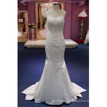 Soft Satin Lace Mermaid Fashion Dress Bridal Wedding Gown