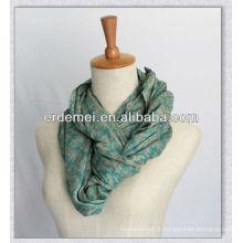 Viscose foulard imprimé / écharpe de luxe