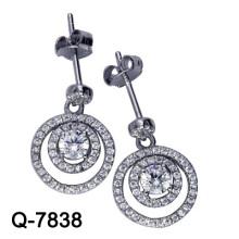 Los últimos estilos de los pendientes 925 joyería de plata (Q-7838. JPG)