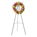 Wire Wreath Easel Heavy-Duty buisvormige ezel
