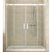 Porta grande do chuveiro de roda do aço inoxidável da instalação da alcova