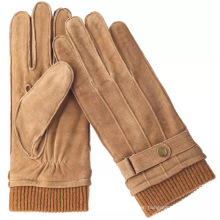 outseam Inseam coloured pig suede leather glove
