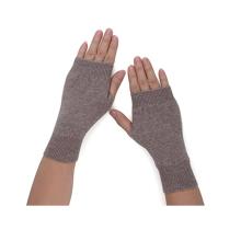 PK18A19HX Women's Cashmere Kint Half Fingerless Gloves Hole Gloves