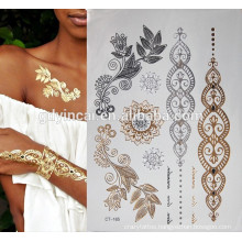 Gold foil hand temporary tattoo sticker