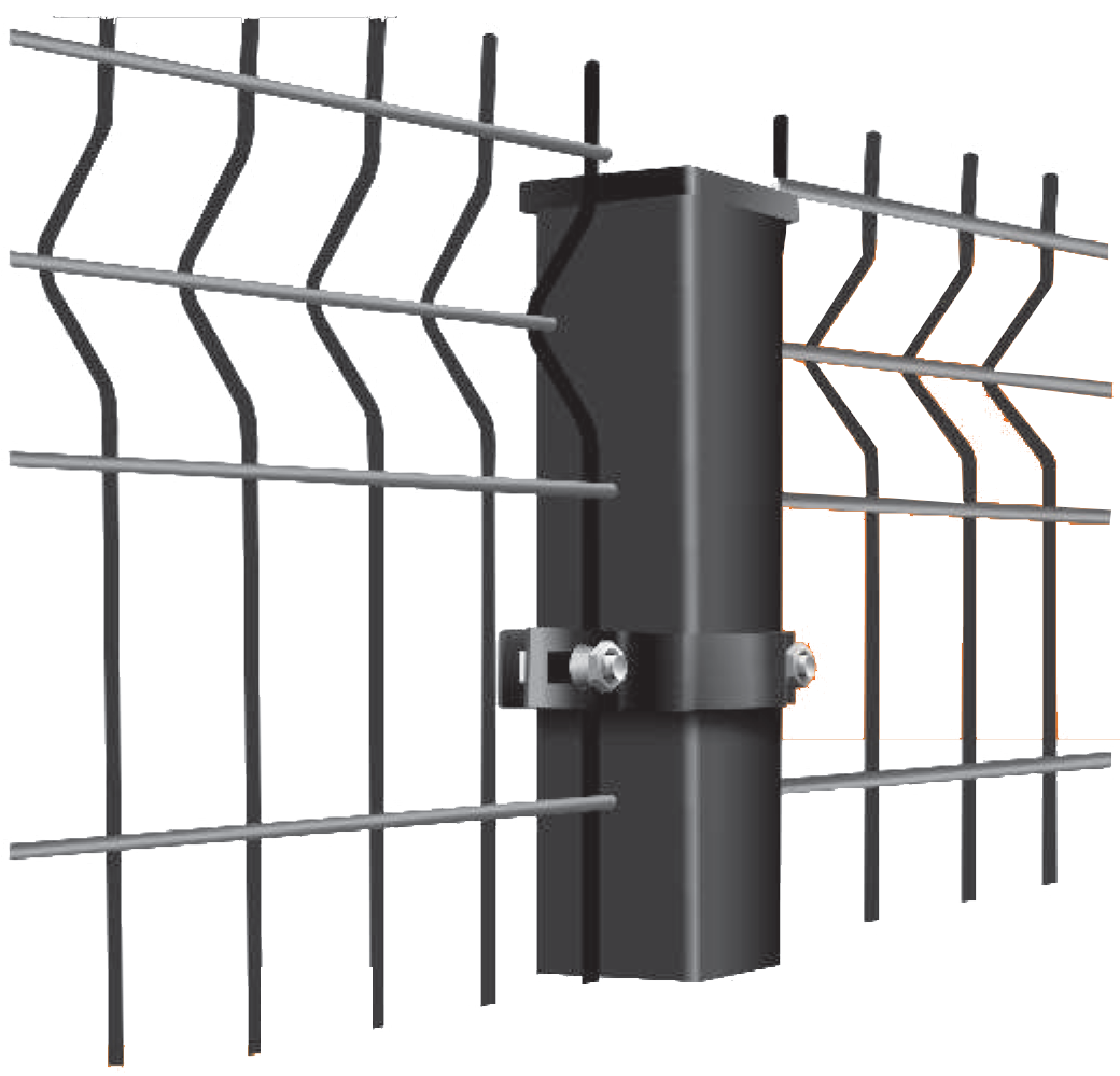 mesh panels with iron bracket