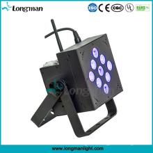 Innen-batteriebetriebene DJ Lichter 9X10W RGBW DMX PAR LED