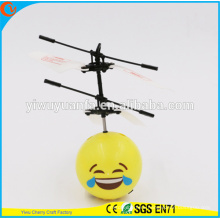 Hot Selling Interesting Mini Flying Ball Toy Funny Emoji Face Heli Ball
