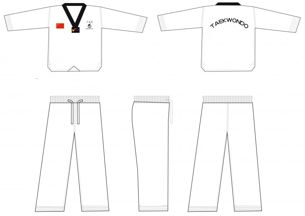 taekwondo uniform black collar