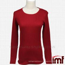 Pull en cachemire en tricot rouge pour femme