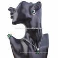 Anillo de plata de la manera del OEM al por mayor Anillo de piedra verde claro de la CZ del claro de la India de la piedra