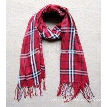 Fashion women plaid 100% viscose pashmina scarf