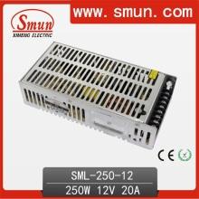 Smun 250W 12VDC 20A Fuente de alimentación de conmutación 2 años de garantía