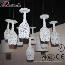 Aluminium White Cup Pendant Lamp for Restaurant Decorative
