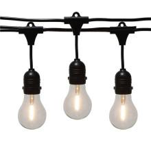 A19 LED luzes de corda impermeáveis ao ar livre