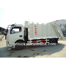 6000L carro de polvo, carro de polvo con compactador, con la basura colgante