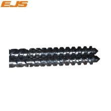 bimetálico paralelo doble tornillo y barril para la máquina de extrusión de PVC
