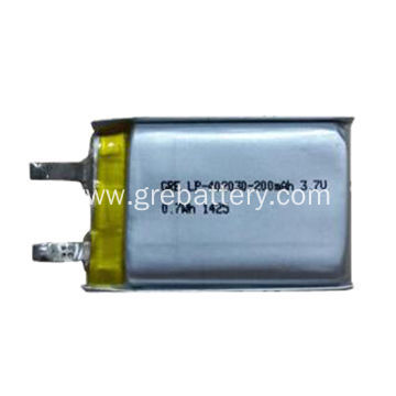 Small rechargeable lithium ion polymer battery 3.7V 200mAh