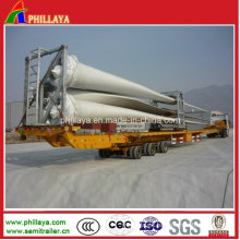 Wind Blade 16m-45m Hydraulic Extendable Lowbed Truck Semi Trailer