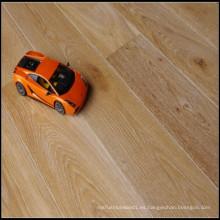 Material de construcción Aceite blanco cepillado Suelo de madera de roble reconstituido