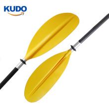 2019 Double Side Reinforced Paddle Aluminum Shaft Fiberglass Reinforced Nylon Blade Yellow Kayak Paddle