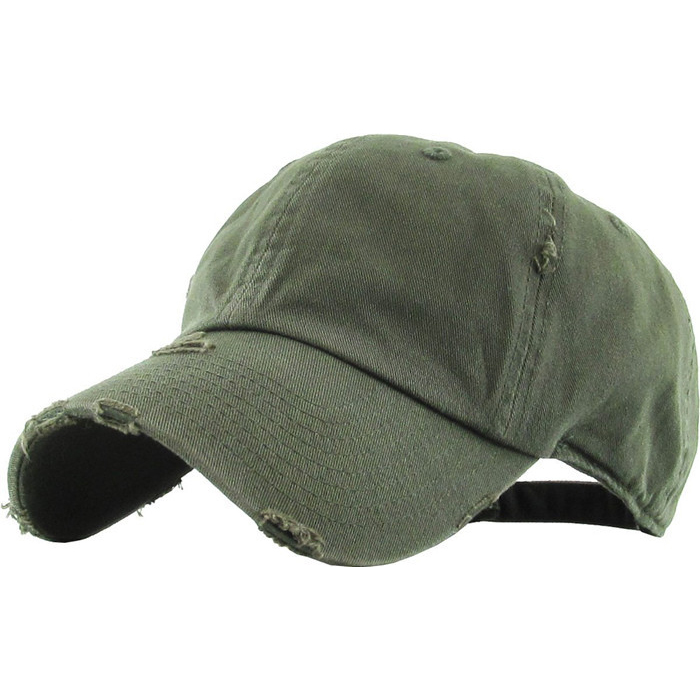 Wholesale Solid Blank Distressed Baseball Cap Washed 3