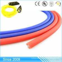 Blank Colored Braided Round PVC Coated Nylon Webbing Rope For Dog Leash