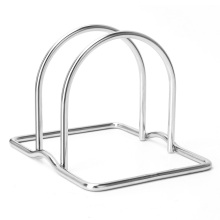 tábua de corte de aço inoxidável rack redonda tábua de corte
