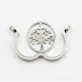 Новый дизайн Сторона открыта медальон с Древом жизни монета ожерелье