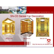 Cabine do elevador com o painel da linha fina (SN-CD-170)