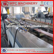 Madeira de plástico wpc decking / fence / painel de parede perfil máquina de fabricação wpc perfil de máquina