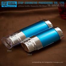 ZB-WV20 20ml 2 in 1 Flasche besonderen und schönen ovalen 20ml - 30ml innovative Doppelrohr airless-Flaschen