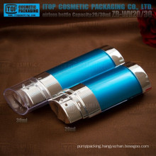 ZB-WV20 20ml 2 in 1 bottle special and beautiful oval 20ml-30ml innovative double tube airless bottles