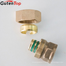 Garnitures de tuyauterie en laiton de haute qualité de compression de GutenTop, raccord hydraulique de tuyau en laiton