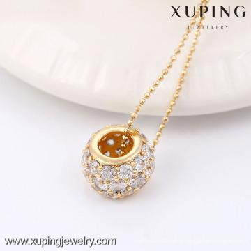 32413-Xuping colgante de joyería de moda con 18 quilates chapado en oro