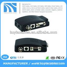 Appareil photo CCTV BNC S-Video VGA PC vers adaptateur de convertisseur VGA
