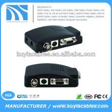 CCTV Câmera BNC S-Video VGA PC para VGA Converter Adapter