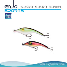 Angler Select Plastic Lipless Shallow Fishing Tackle Lure with Vmc Treble Hooks (LL0311)