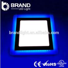 Высокие люмены 6w + 3w круглые и квадратные двухцветные светодиодные панели света