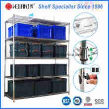 Bastidor de almacenamiento de alambre de acero resistente NSF 5 Tiers para Warehouse