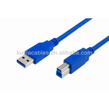 Bleu USB 3.0 Câble d'imprimante Câble AM à BM Câble mâle à mâle Adaptateur mâle 35cm 50cm 1m 1.5m 3m