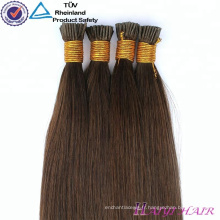 Les cheveux brésiliens de kératine fusion droite pré ont collé des extensions de cheveux de micro anneau de 32 pouces