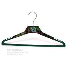 Corpo impresso cabide plástico Custome impressão Design casaco Ahngers