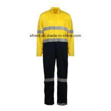 Reflektierender Overall aus 100% Baumwolle mit hoher Sicherheit