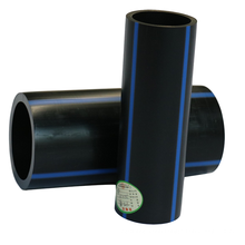 Underground nontoxic hdpe black water supply pipe with blue stripe
