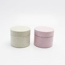 30g 50g Eco Friendly Wheat straw Cosmetic Packaging Jars Biodegradable Material Cosmetic Cream Jar Custom colors PLA-150AN
