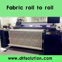Imprimante numérique de ceinture pour le rouleau de tissu de coton pour rouler l'impression